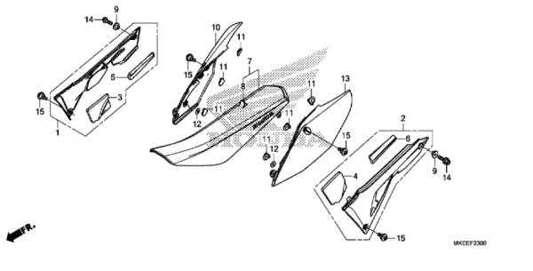 F-23 Sitz/Seitenabdeckung