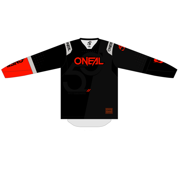 PRODIGY JERSEY FIVE ZERO BLACK/NEON RED 2020