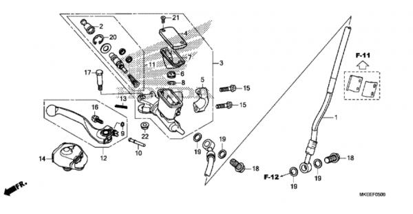 F-5 Hauptbremszylinder, Vorne Zylinder