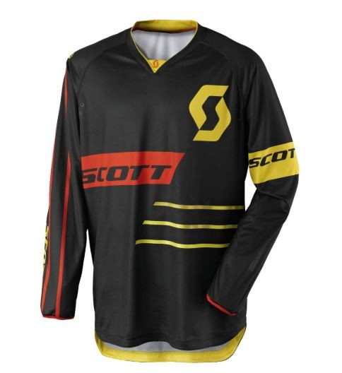 Scott Jersey 350 Dirt black/yellow Gr: L