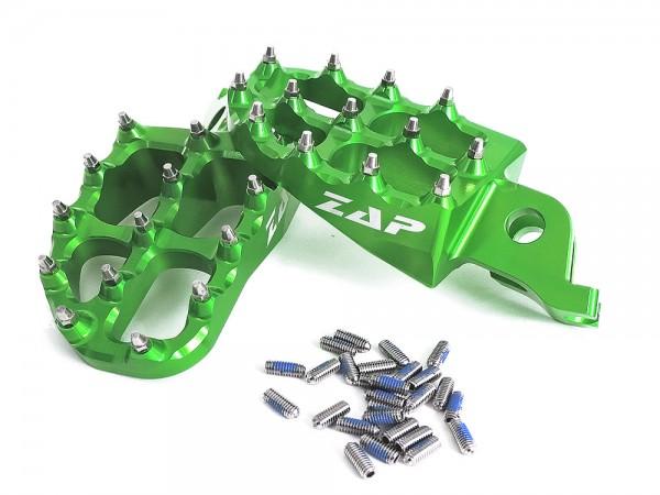 ZAP E-Peg Fußraste KXF 250 06- / 450 07- grün