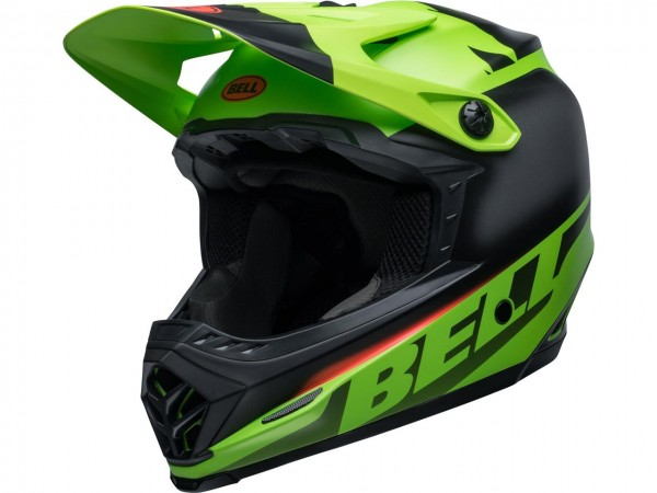 BELL Moto-9 Youth Mips Helm Glory Green/Black/Infrared