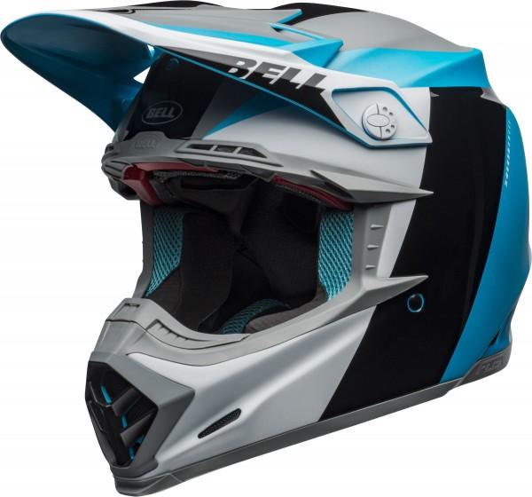 Bell Moto-9 Flex Division Helmet White/Black/Blue 2020