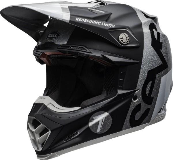 Bell Moto-9 Flex Seven Galaxy Helmet Black/Silver 2020