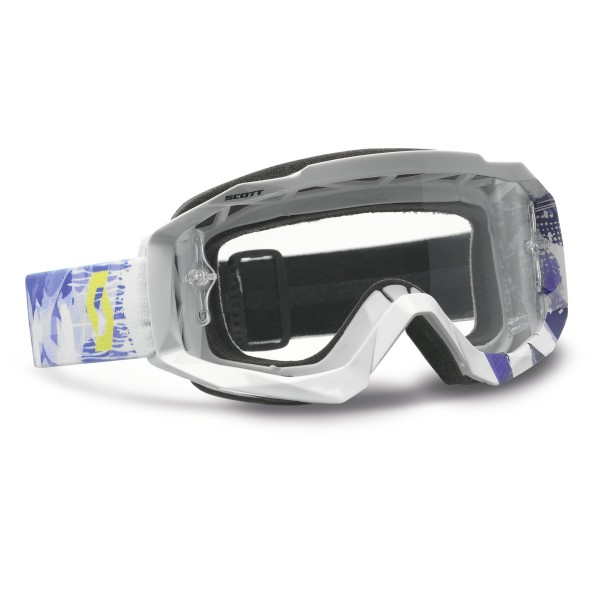 Scott Goggle Hustle MX, scrib wh/pur clear works