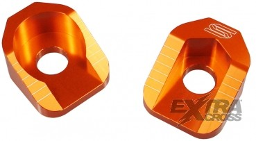 Scar Axle Blocks - KTM 65SX 02-16 - Farbe orange