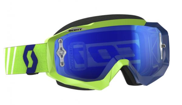 Goggle Hustle MX works green/blue electric blue