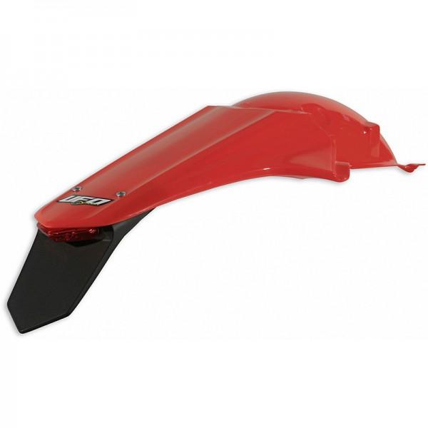 Ufo Kotflügel hinten Enduro m. LED Honda CRF 250 (14-), CRF 450 (13-16) schwarz/weiss/rot