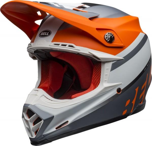 BELL Moto-9 Mips Helm Prophecy Matte Orange/Black/Gray 2020