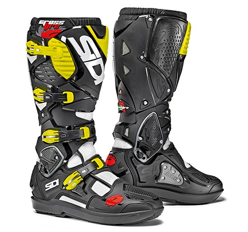 Sidi Crossfire 3 SRS White-Black-Yellow Fluo Größe: 40 - 47