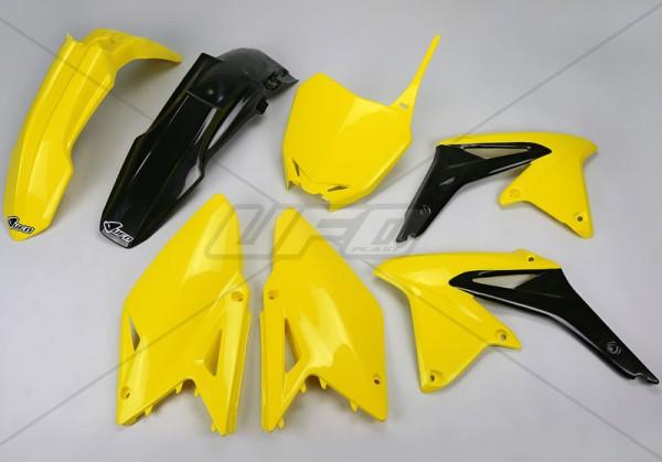 Ufo Replica Plastik Kit Suzuki RMZ 450 (14-17) schwarz/weiss/gelb 01/original