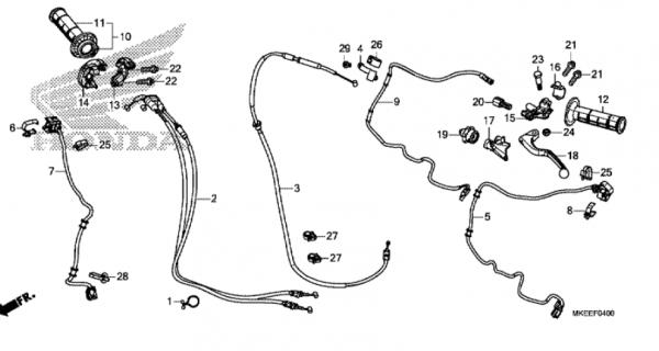 F-4 Hebelgriff/Schalter/Kabel