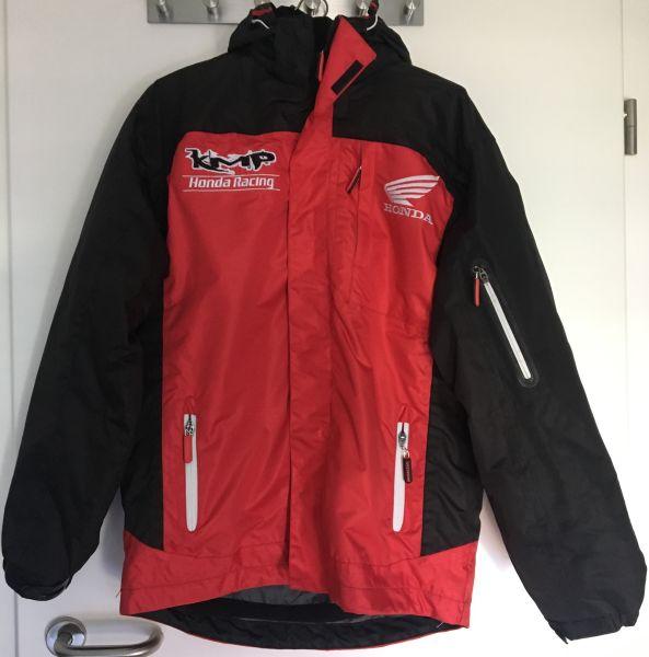 KMP Winterjacke rot/schwarz