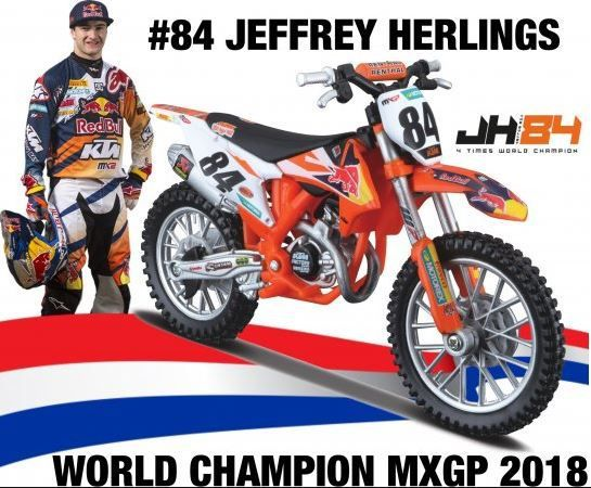 Miniatur Modell KTM Jeffrey Herlings (84) 1:18