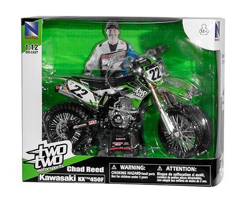 Miniatur Modell Kawasaki Chad Reed (22) 1:12