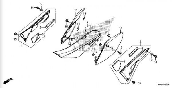 F-23 Sitz/ Seitenabdeckung (CRF 450RL BJ2020)