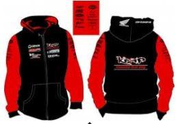 KMP Zip Hoody Farbe: Rot/Schwarz Größe S-XXL