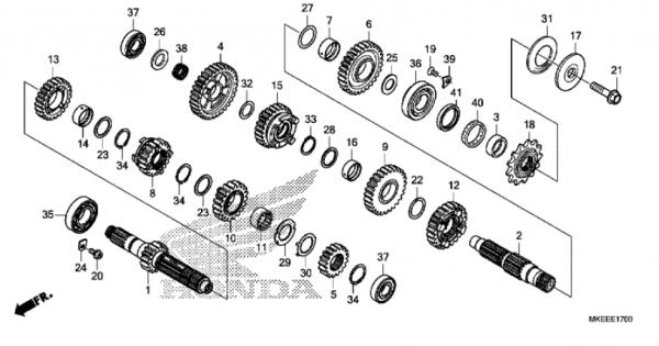 E-17 Getriebe