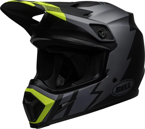 BELL MX-9 Mips Helm Strike Matte Gray/Black/Hi Viz 2020