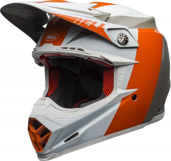 Bell Moto-9 Flex Division Helmet White/Orange/Sand 2020