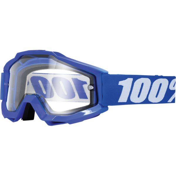 100% ACCURI REFLEX BLUE ENDURO GOGGLE W/ CLEAR LENS