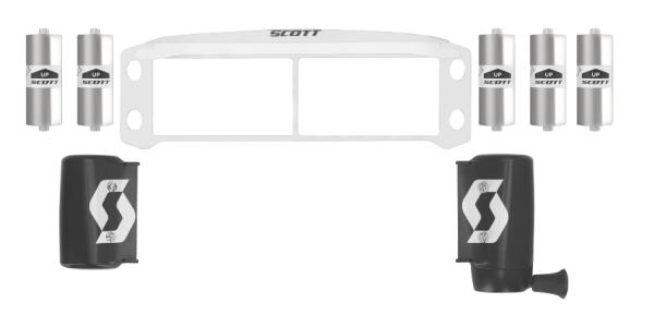 SCOTT WFS50 Roll-Off Kit Prospect/Fury Schwarz 2022