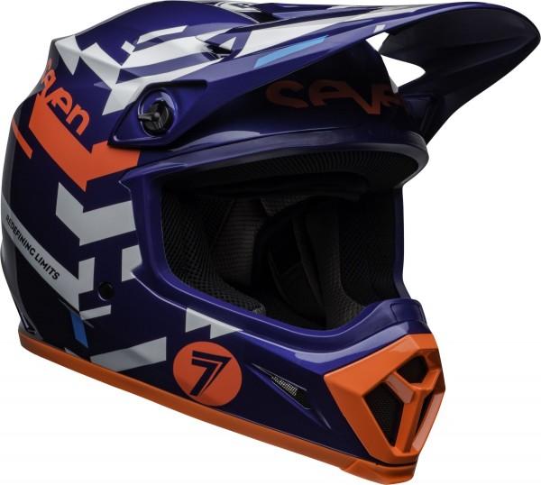 BELL MX-9 Mips Helm Seven Equalizer Blue/Pink/White 2020 Gr.M