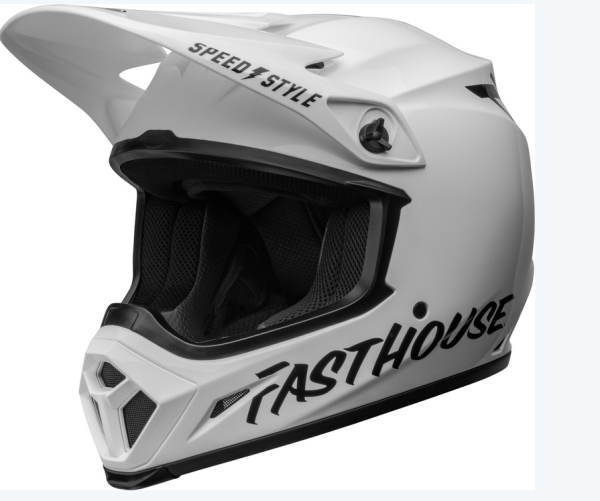 BELL MX-9 Mips Helm Fasthouse Gloss White/Black