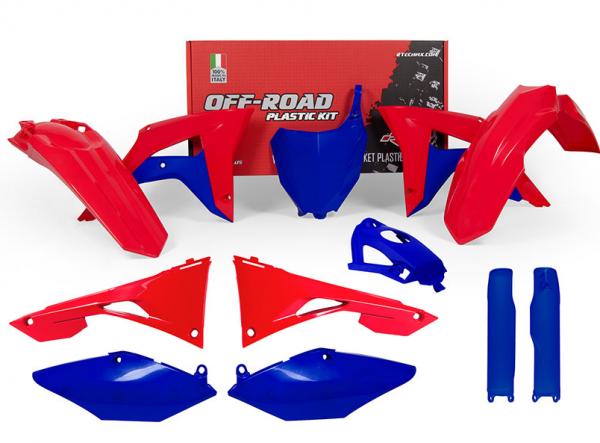 Rtech Plastikkit CRF 450 (17-) 250 (18-) Rot-Blau 8tlg.
