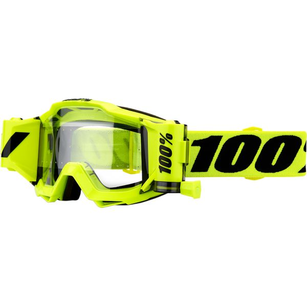 100% ACCURI FORECAST FLUO YELLOW SVS GOGGLE W/ CLEAR LENS