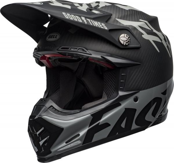 Bell Moto-9 Flex Fasthouse WRWF Helmet Black/White/Gray 2020