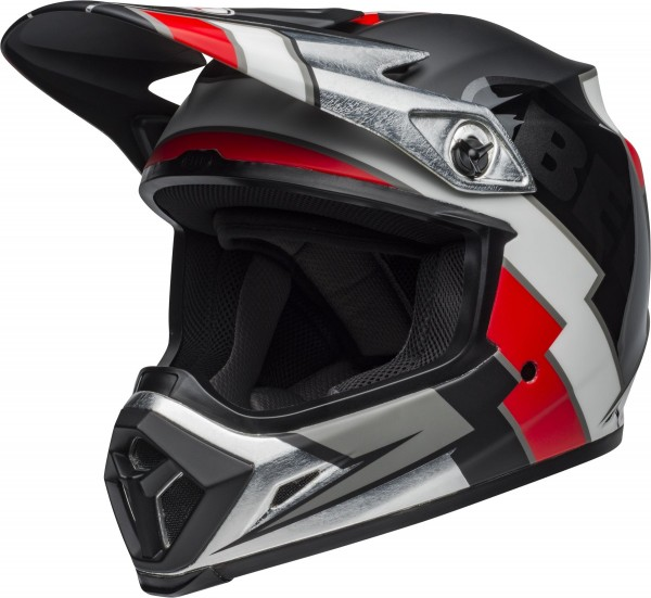 BELL MX-9 Mips Helm Twitch Replica Matte Black/Red/White 2020
