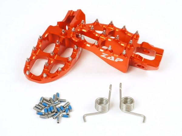 ZAP E-Peg Fußraste KTM 125-450 SX(F) 2016- ,EXC 2017- orange *inkl. Federn*