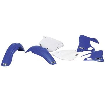 Ufo Replica Plastik Kit Yamaha YZ 125-250 Restyling (02-14) chwarz/weiss/gelb/blau/blau weiss