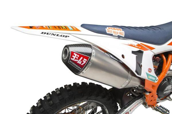Yoshimura Auspuffanlage KTM 450SX-F / HUSQVARNA FC450 18,5 RS-4 FS TI-TI-CF