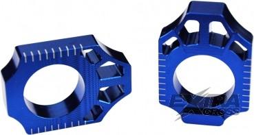 Scar Axle Blocks - Yamaha YZ250F 12-16 YZ450F 10-16 - Farbe blau