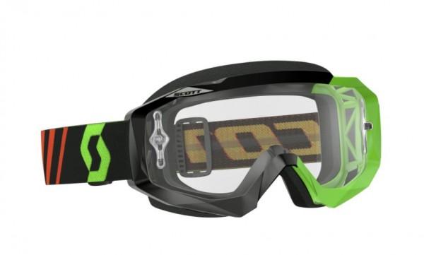 SCOTT HUSTLE MX BRILLE black/fluo green clear works 17