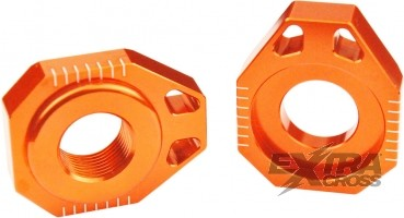 Scar Axle Blocks - KTM 85 SX / 105 SX 02-14 125-525 SX/-F SMR 02-12 125-525 EXC/-F 02-14 - orange