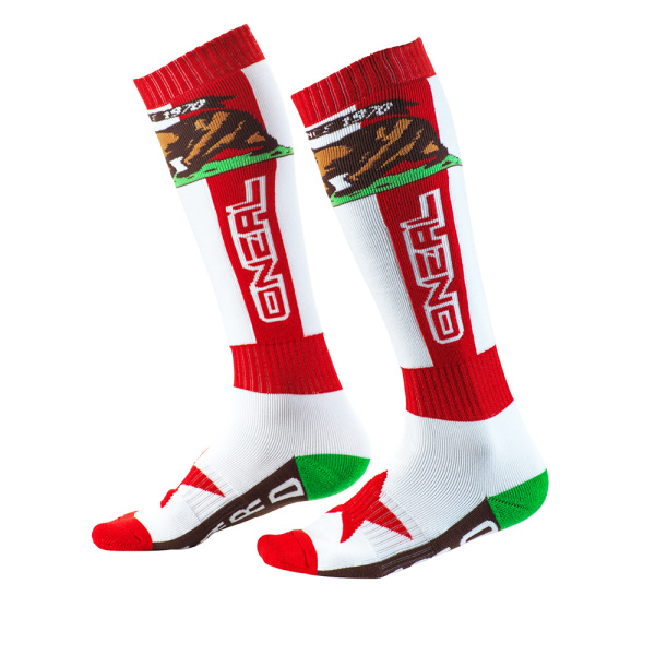 PRO MX SOCK CALIFORNIA RED/WHITE/BROWN 2020