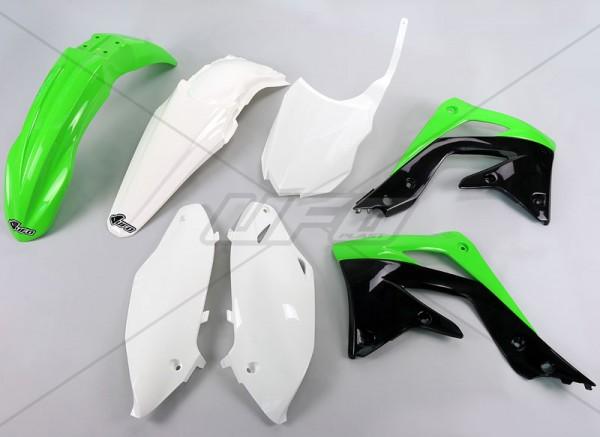 Ufo Replica Plastik Kit Kawa KXF 450 (13-15) schwarz/kawagrün/weiss/original
